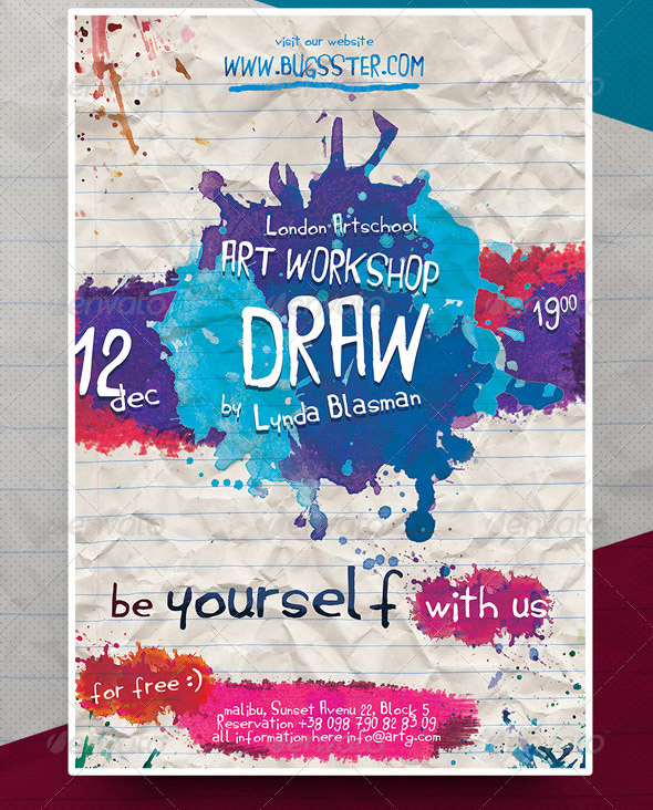 Cool Watercolor Flyer Templates  Desiznworld