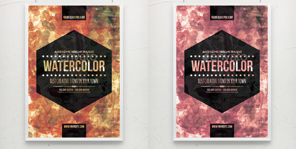 Watercolor Bright Party Poster