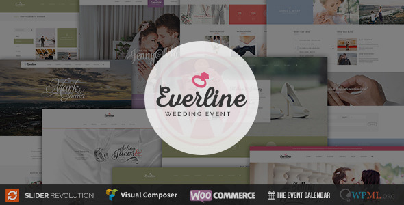 Wedding Event Everline WordPress Theme