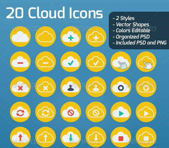 20-flat-cloud-icons