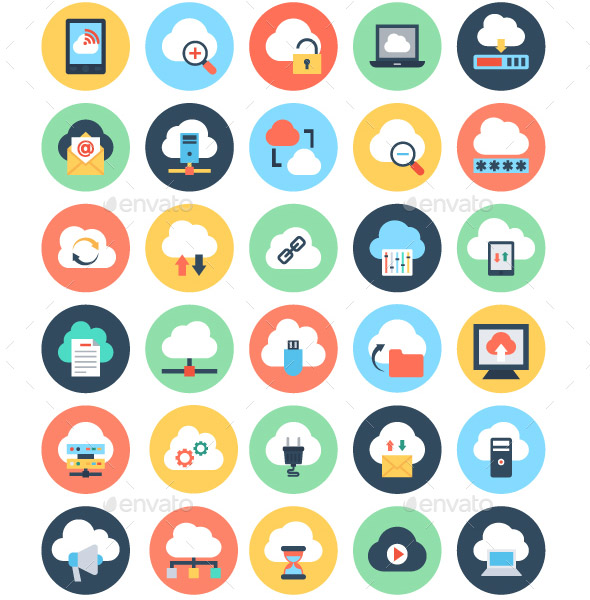 50-flat-cloud-computing-icons