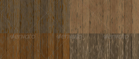 6 Old Worn Wood Plank Textures Pack