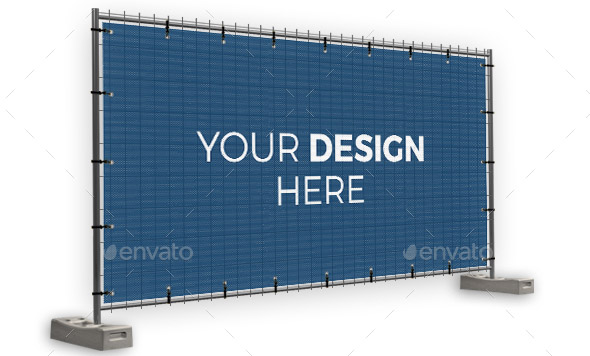 building-fence-banner-mockup-set
