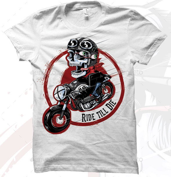 cafe-racer-toon-t-shirt