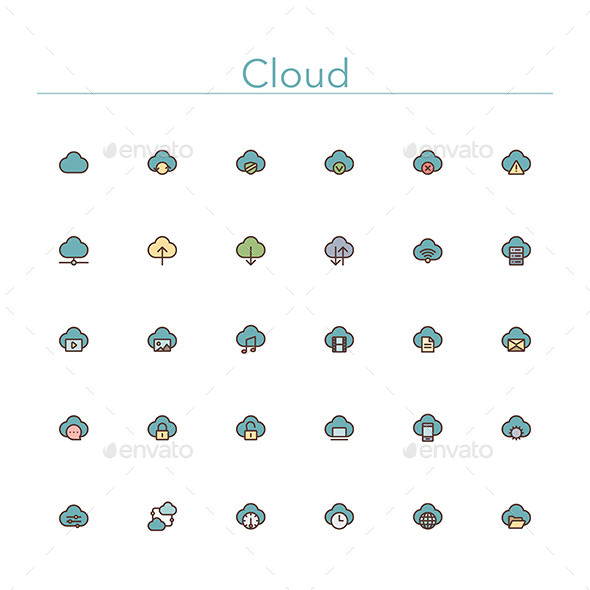 cloud-colored-line-icons