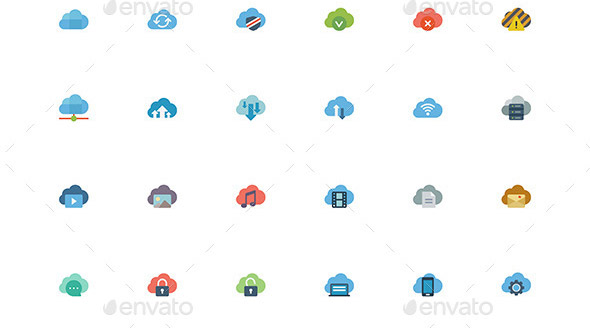 cloud-flat-icons