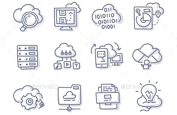 cloud-hosting-doodle-icons