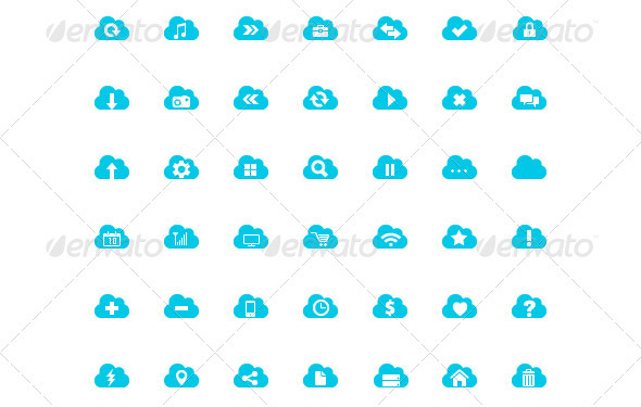 cloud-icon-set
