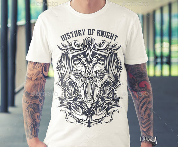 history-of-knight-t-shirt-design