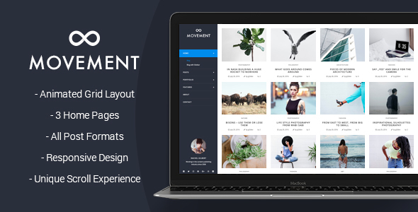 Portfolio Blog WordPress Theme Movement