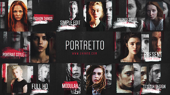 Portretto Grunge Slideshow