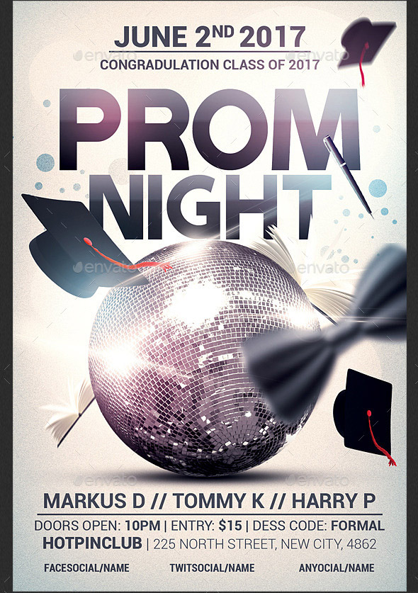 Cool Prom Poster  Flyer Templates  Desiznworld