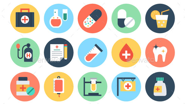 100-flat-medical-and-health-icons