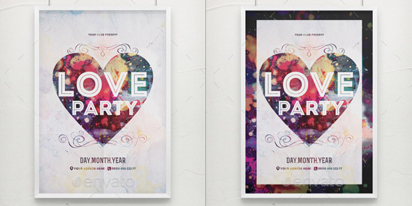 bright-love-party-poster-template