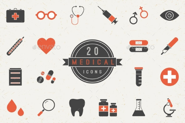 flat-medical-icons-collection