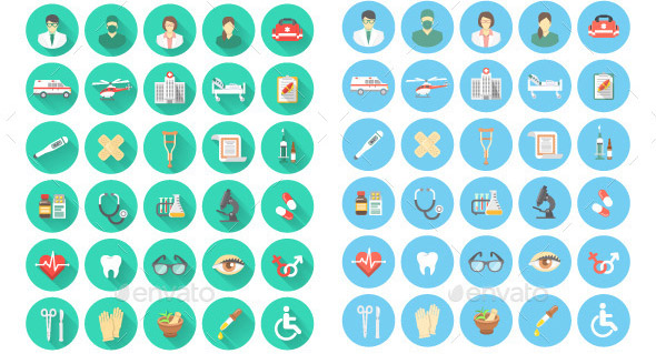 flat-medical-and-healthcare-icons