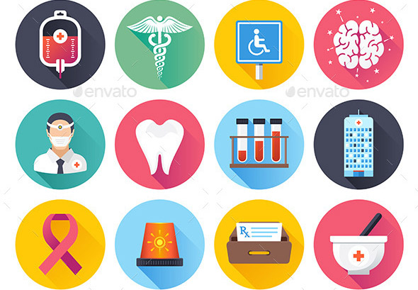 health-care-and-medical-flat-icons