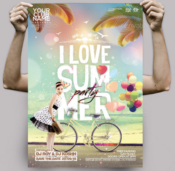 i-love-summer-party-flyer-poster-template