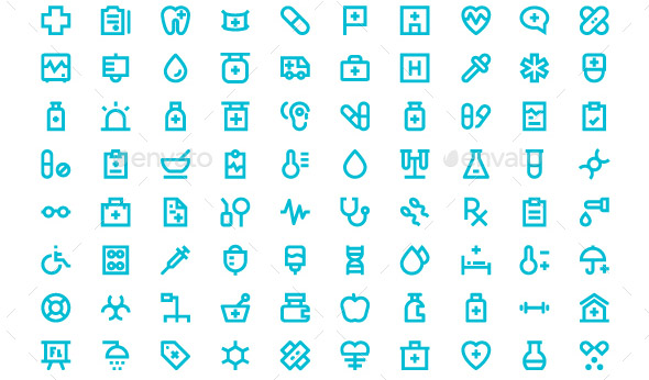 medical-and-health-material-icons