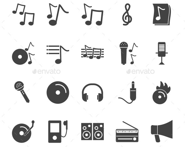 music-glyph-icons