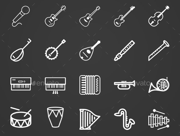 music-instruments-icon-set