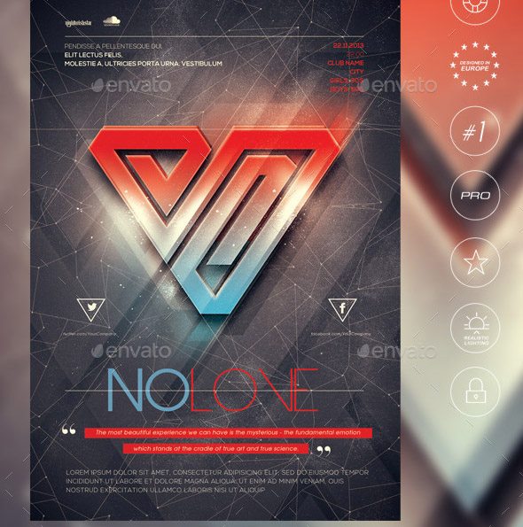 no-love-2-poster-flyer