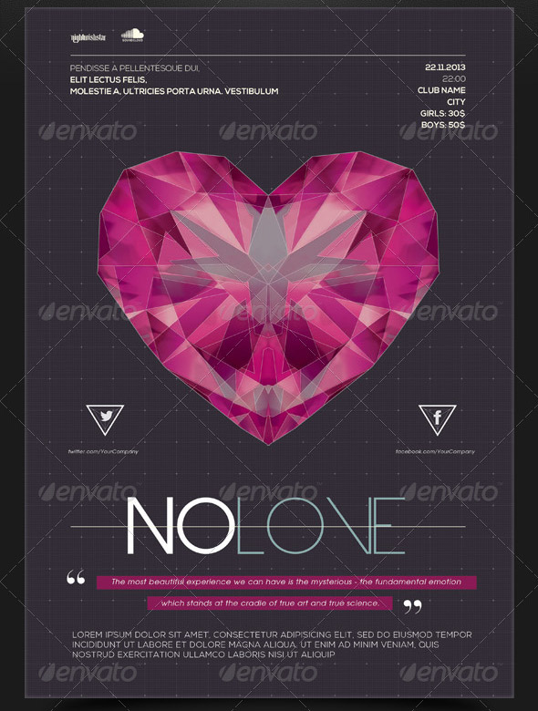 no-love-poster-flyer