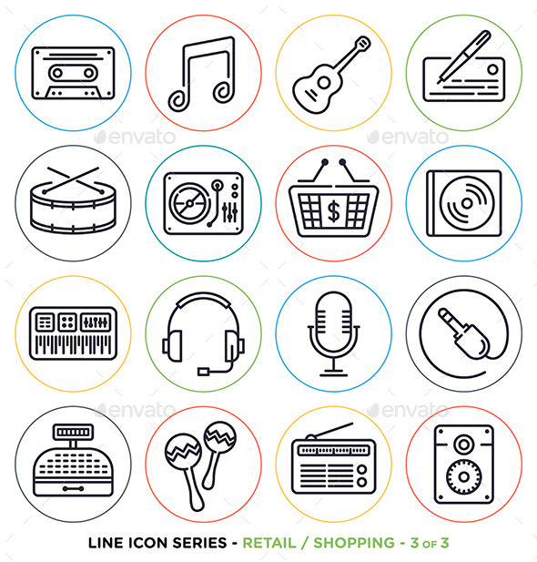 online-music-line-icons