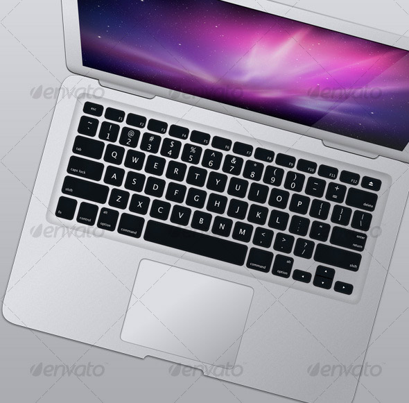 silver-laptop-top-view
