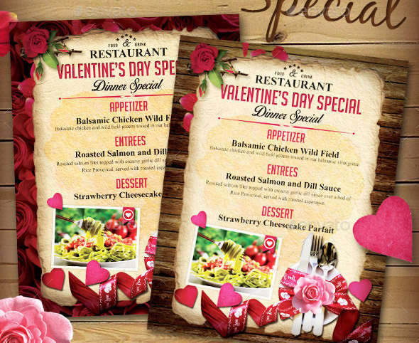 valentine-menu-flyer-templates