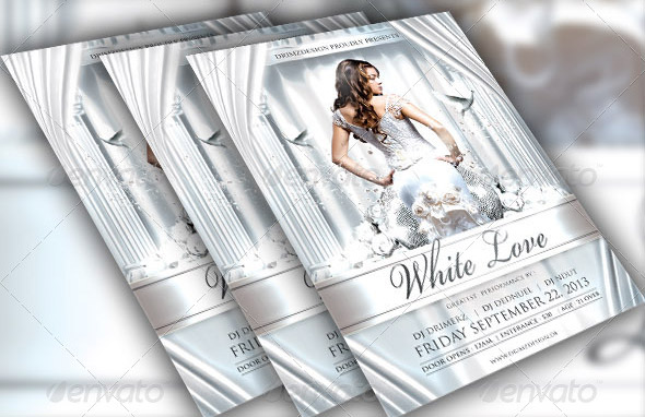 white-love-flyer