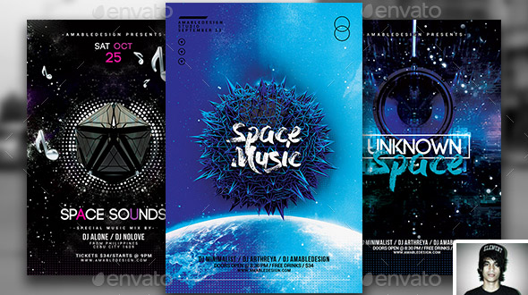 3-in-1-space-galaxy-flyer-poster-vol-7