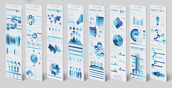 blue-infographics-elements-template