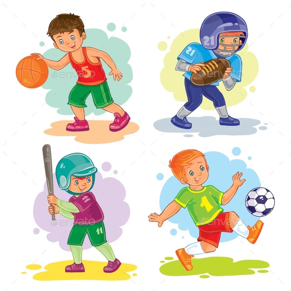 boys-playing-sports-icon-set