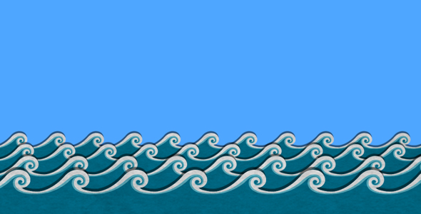 cartoon-sea-waves