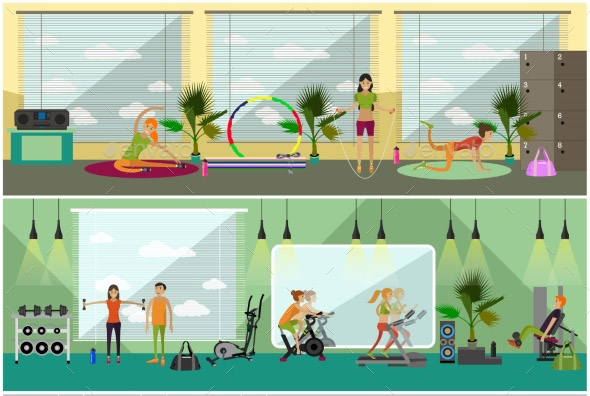 fitness-center-interior-vector-illustration
