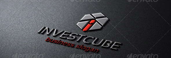 invest-cube-logo-template