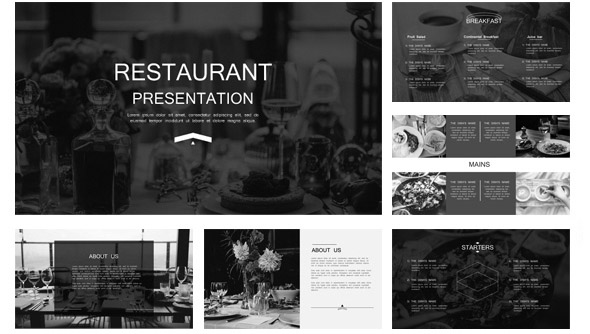18 nice powerpoint presentation templates for hotel & restaurant, Powerpoint templates