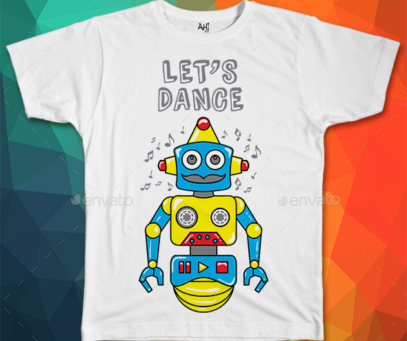 robot-music-funny-t-shirt-design