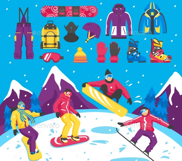 snowboarding-vector-illustration