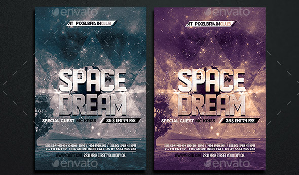 space-dream-flyer-template