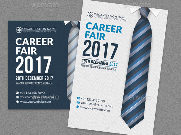 career-fair-post-card-template