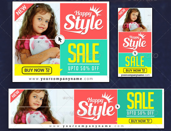 kids-clothing-banner-set