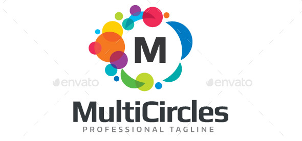multicircles-editable-letter-logo