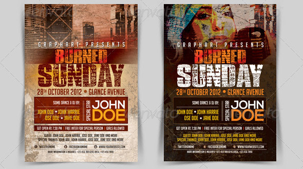 typography-burned-grunge-flyer