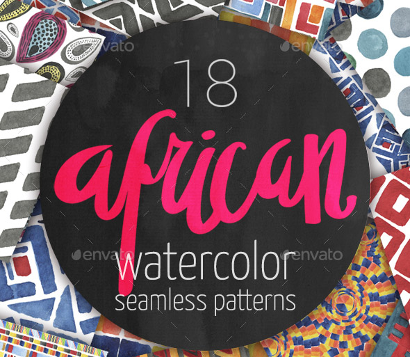watercolor-seamless-patterns-set
