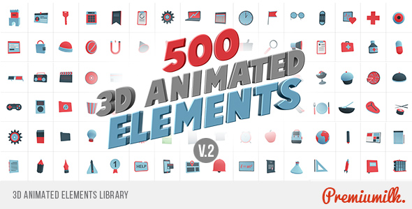 3d-animated-elements-library