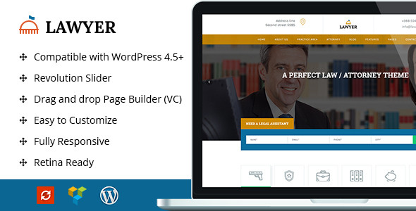 A Lawyer Lawyer WordPress Theme