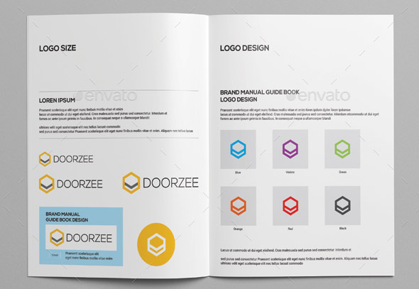 Cool Brochure Templates For Company Brand Book  Desiznworld