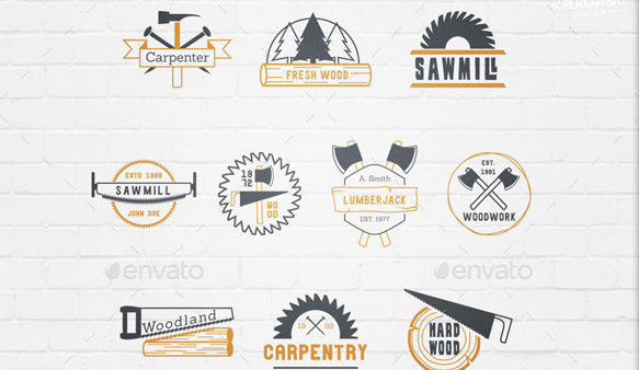 carpentry-wood-badges-logos